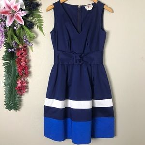 Kate Spade New York Navy blue belted Sawyer dress